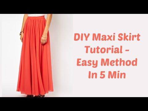 Diy maxi skirt tutorial