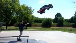 Slash 4x4 Catches some air!