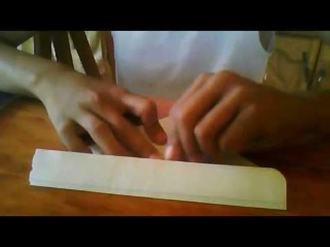 como hacer un corazon de papel con hoja de cuaderno