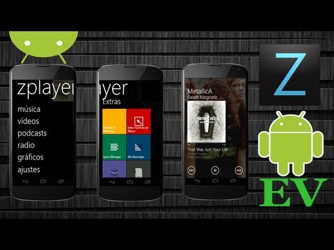 ZPlayer GRATIS Reproductor de Música estilo Windows Phone - Android Evolution