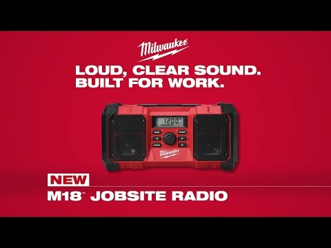 milwaukee bluetooth m18 jobsite radio & battery charger