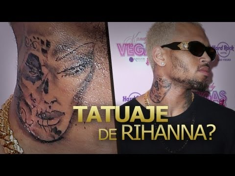 Rihanna Sangrando: Chris Brown Nuevo tatuaje!
