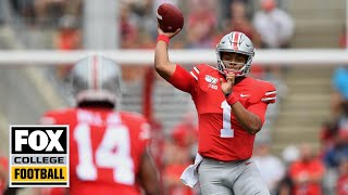 Justin Fields highlights & post-game press conference from Ohio State debut | FOX COLLEGE FOOTBALL