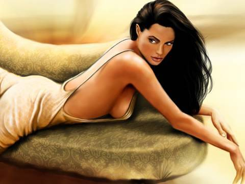 Angelina Jolie - Digital Painting video