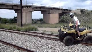 How to cross a railway with a quad Video