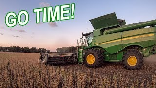 FIRST Day of SOYBEAN Harvest with the S690 | HARVEST 19 Day 1