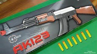 KALASHNIKOV AK 123 Mundo Gun | AK-47 Model Soft Bullet Shooter Air Toy Gun