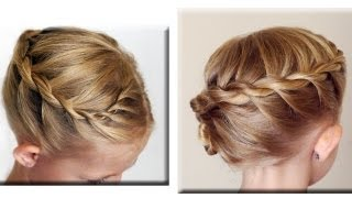 Twisted Rope French Braid Hair Tutorial // Cute girls Hairstyles