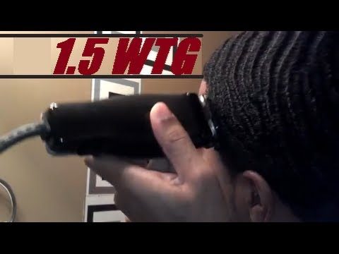 How To Cut Number #1.5 Guard WTG Waves Haircut Yourself
