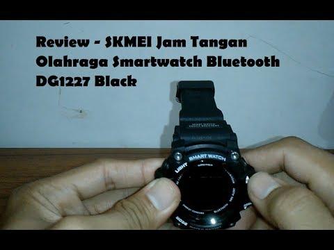Review - SKMEI Jam Tangan Olahraga Smartwatch Bluetooth   DG1227 Black