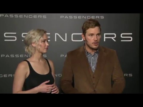 Passengers: Jennifer Lawrence & Chris Pratt Official Premiere Interview