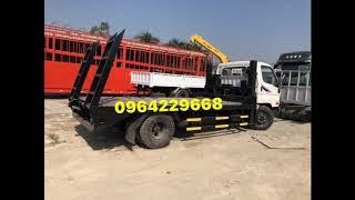Xe Nâng Đầu Chở Máy Xúc Đào Cuốc Ủi Hyundai HD800 0964229668