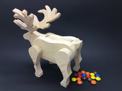 How to Make Reindeer that gives out Candy Dispenser