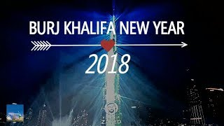 Light up Dubai 2018 : Happy New Year 2018 : Burj Khalifa Laser Show : Fireworks UAE : NYE 2018