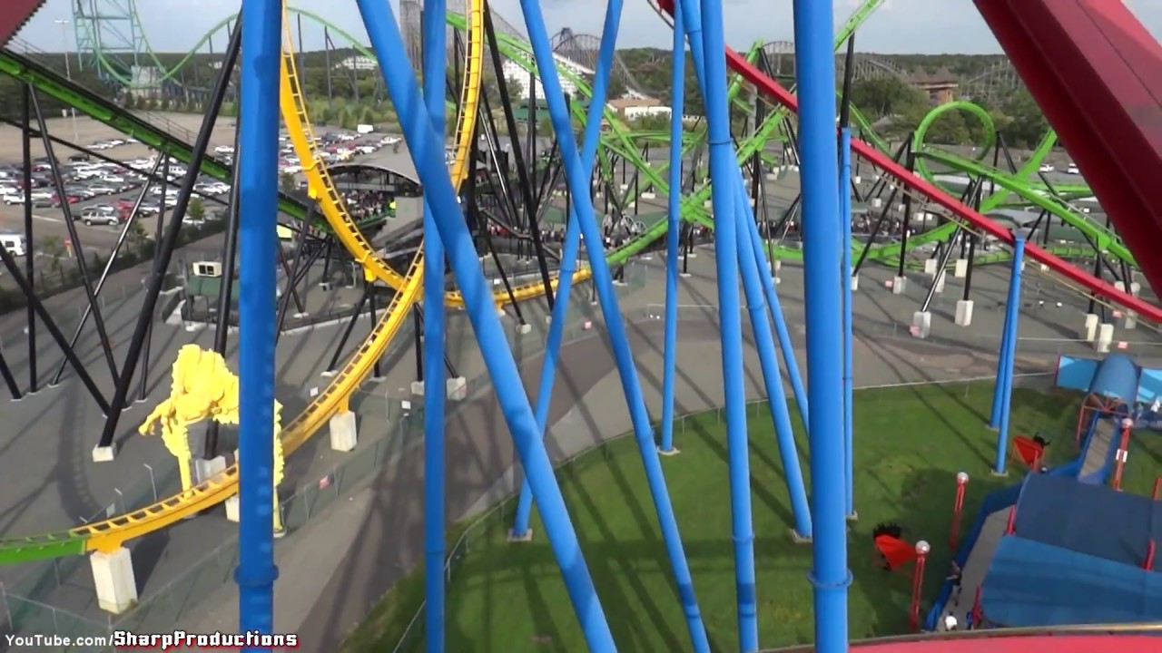 Superman On Ride Six Flags Great Adventure Youtube