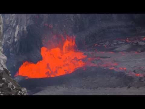 4/27/2015 lava lake in Halema`uma`u crater, Kilauea Volcano