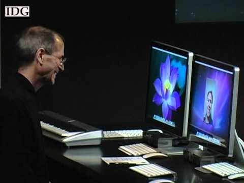Apple CEO Steve Jobs demonstrates FaceTime on a Mac