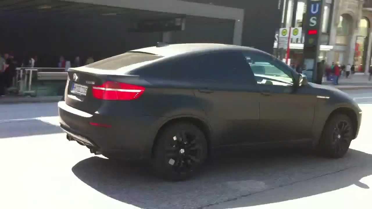 Matte Black Bmw X6 M Drive Off In Hamburg Youtube