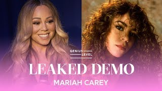 Mariah Carey Confirms Leaked Teenage Demo Is Real | Genius Level