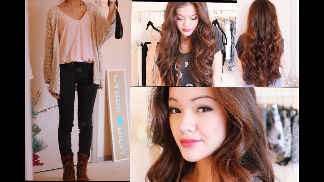 Get Ready With Me My Birthday! Hair Makeup and Outfit - YouTube