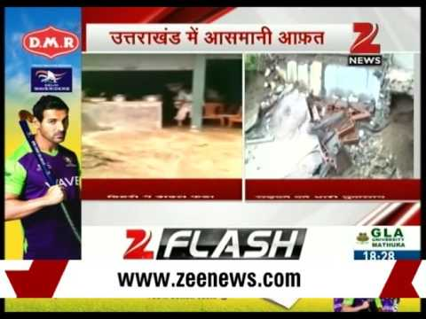 Breaking News - Cloudburst in Tehri, Roads damaged