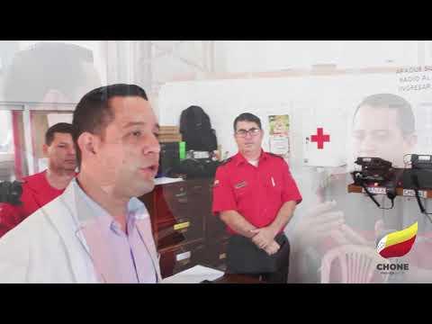 Alcalde de Chone Leonardo Rodríguez ayudará a impulsar metas a cumplir en Cuerpo de Bomberos
