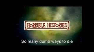 Dumb Ways To Die on Horrible Histories