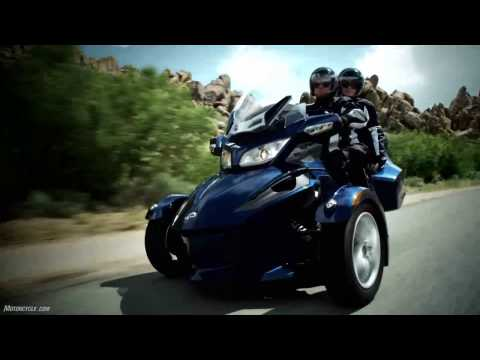 2010 Can-Am Spyder RT Model Intro - A different beast rides a different line