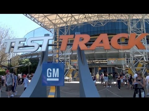 Test Track Epcot Complete Ride Experience Walt Disney World Attraction Ride Through
