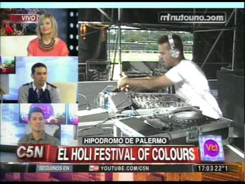 C5N - VIVA LA TARDE: HOLI FESTIVAL OF COLOURS EN EL HIPODROMO DE PALERMO