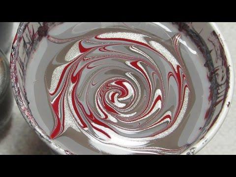 OPI Fifty Shades of Grey Water Marble Nail Art Tutorial