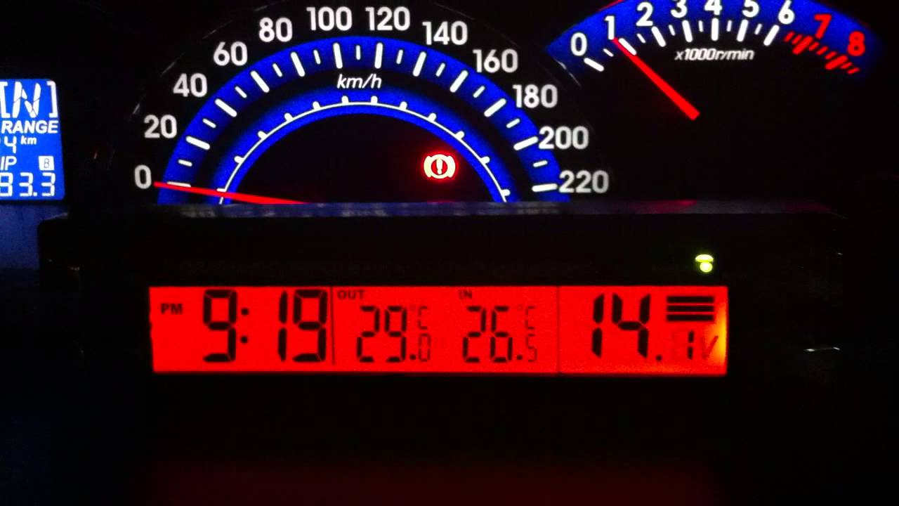 Car Battery Voltage >> LCD Back Light Car Clock Thermometer RCC, Battery Voltage Meter All In One - YouTube