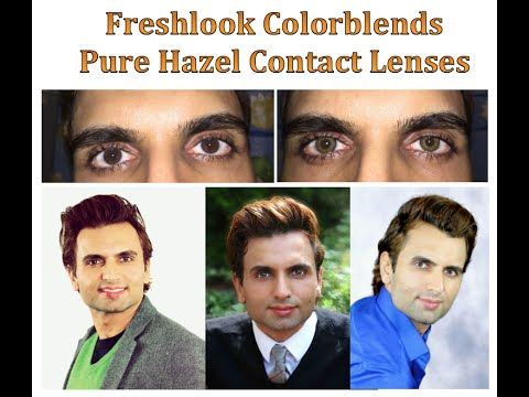 Review of Freshlook Colorblends PURE HAZEL Contact Lenses!