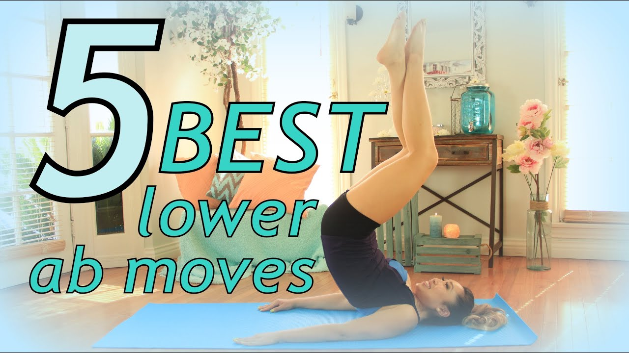 5 Best Exercises to Flatten your Lower Belly - YouTube