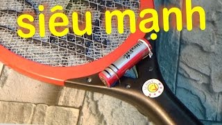 Vợt muỗi nổ yếu, thay pin vợt muỗi siêu mạnh.
