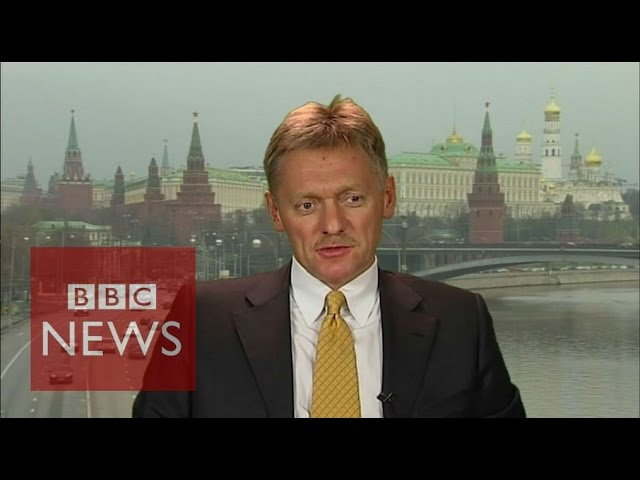 'It's important to save Syria' Dmitry Peskov - BBC News