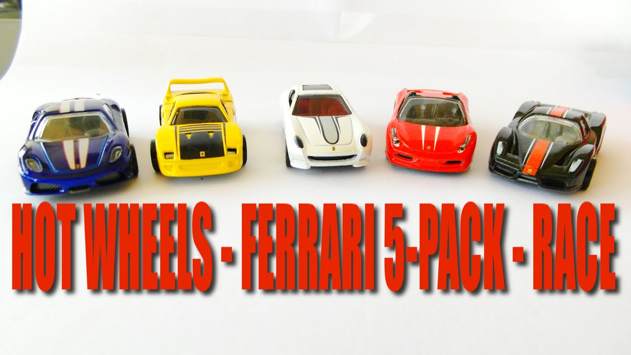 Qcr Of Hot Wheels Ferrari 5 Pack Race Series 2nd