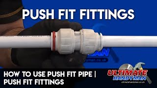 How to use push fit pipe | JG speedfit