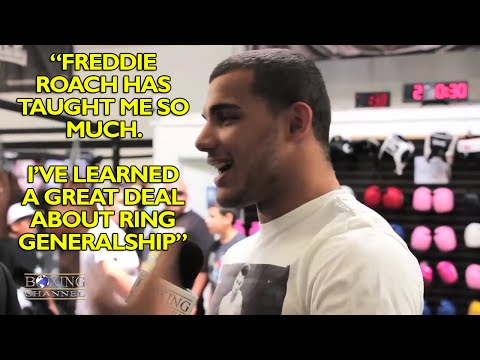 Glen Tapia talks how Freddie Roach has helped him  panties being thrown at him