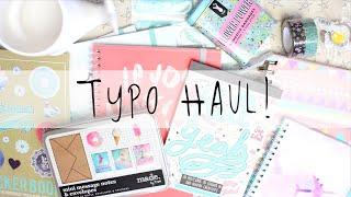 Typo Stationery & Craft Haul! April 2016 | MyGreenCow