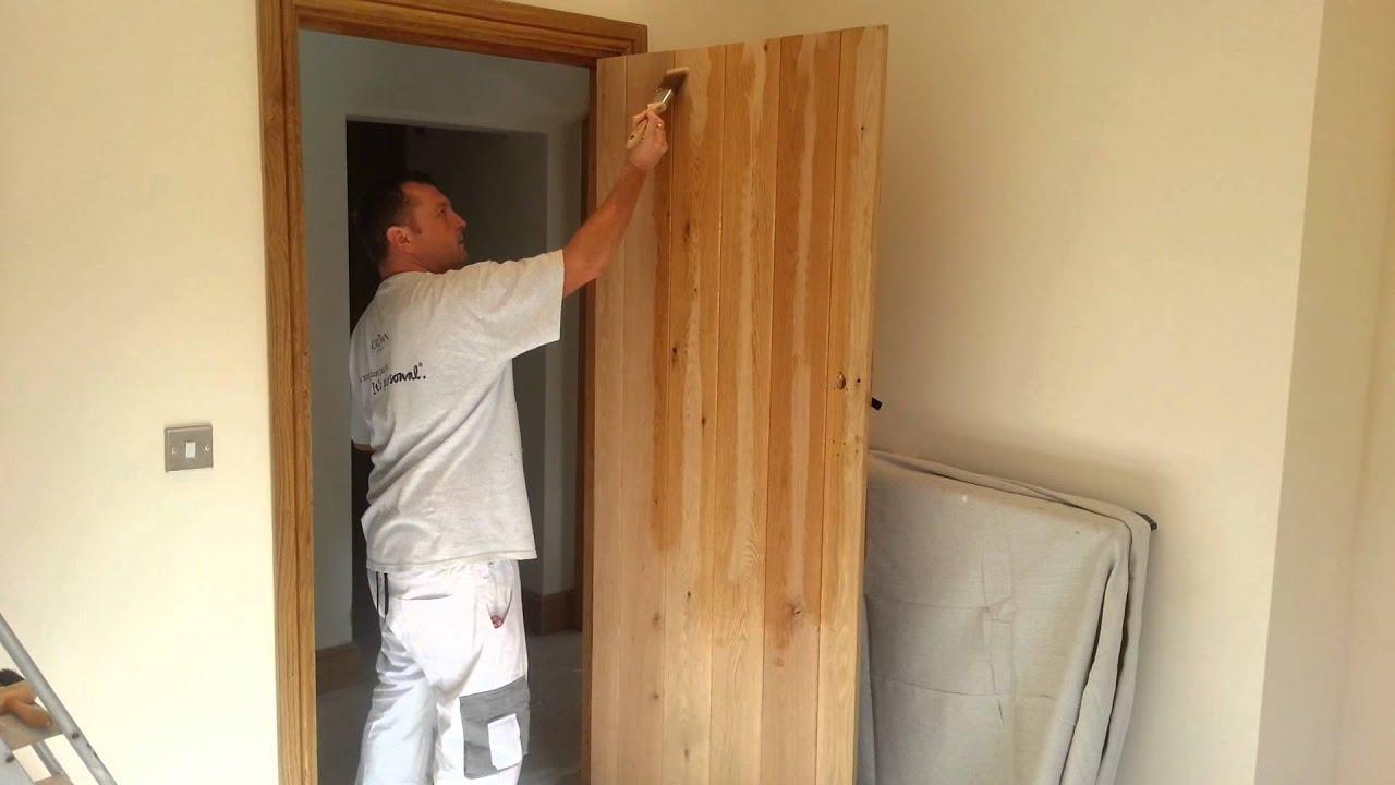 Finishing Pine Interior Doors