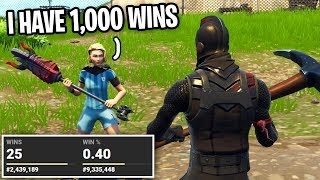 I Caught This NOOB LYING About Having 1000 WINS on Fortnite... (I looked up his stats)