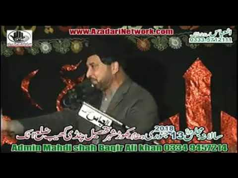 Allama Ali Nasir Al Hussaini Talhara 13 January 2018