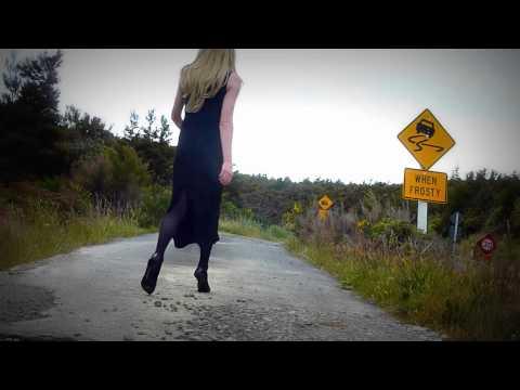 Crossdressing  Long Black Evening Dress
