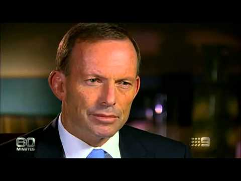 Tony Abbott on 60 Minutes