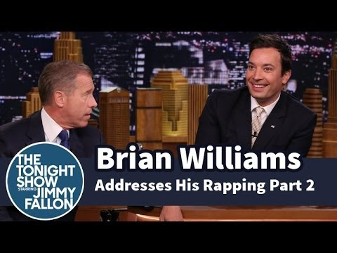 Brian Williams Addresses His Rapping -- Part 2