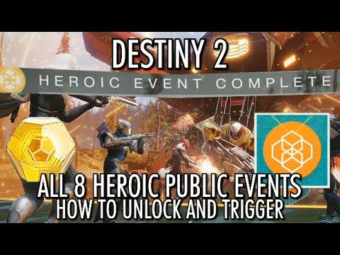 Destiny 2 - All 8 Heroic Public Events - How to Unlock & Trigger Heroic Public Events