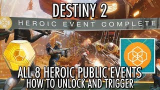 Destiny 2 - All 8 Heroic Public Events - How to Unlock & Activate Heroic Public Events