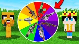!LA RULETA DE LAS ARMAS EN MINECRAFT! 🎯🔫 ARMA NOOB VS ARMA PRO (MINECRAFT MODS)