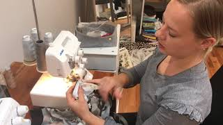 Sewing Neckband for Zip Jacket